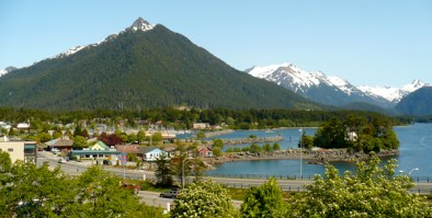Arrowhead Mountain view from the top of Castle Hill in Sitka, AK