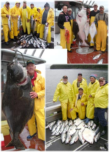 08 08 2010 Many fine fish plus a 200 lbs Halibut