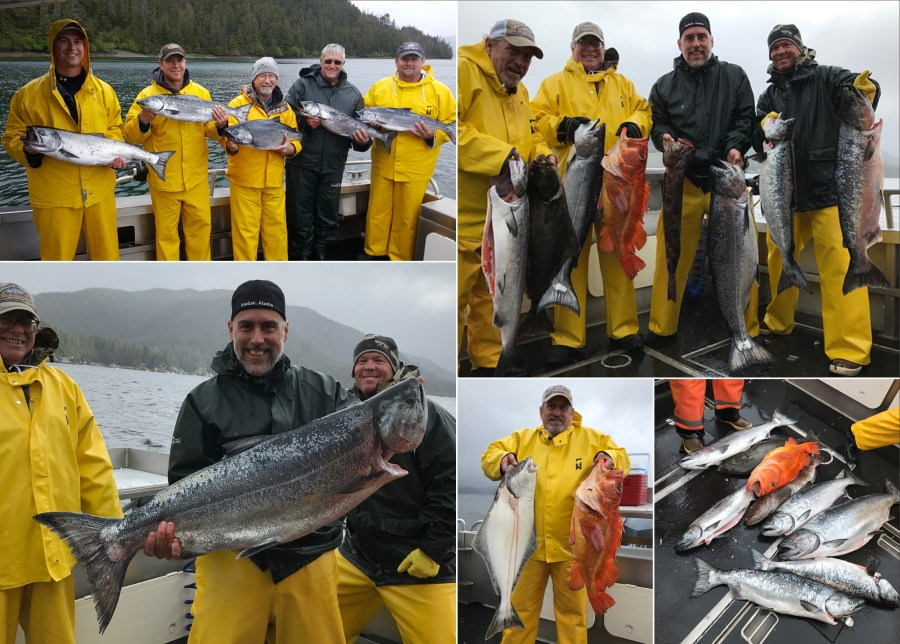 Rough weather produces a 34 lb. ivory King Salmon