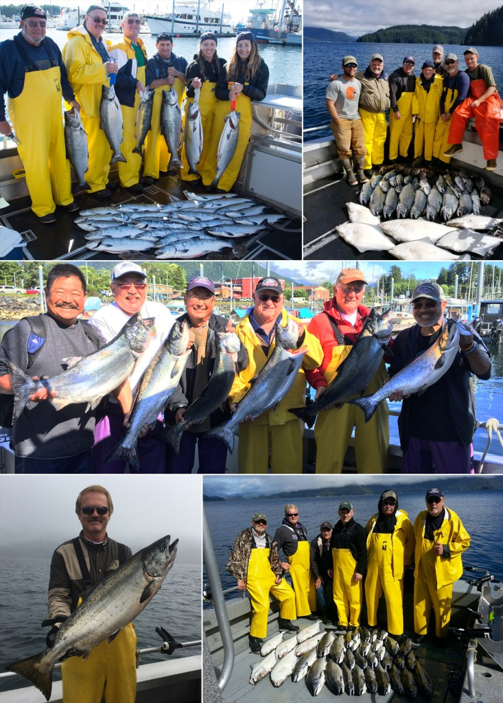 Kings, cohos, and halibut rock the day!