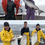 06-07-2018 3 perfect halibut, 2 huge shortrakers, and a super special king for Nancy!