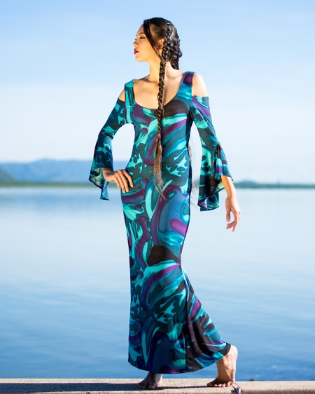 La Dolce Vita Long Dress in Reflection