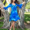 Fiesta Dress with Bell Sleeves