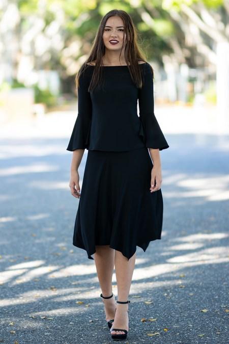 La Vita e Bella Top and Gypsy Skirt in Block Colours