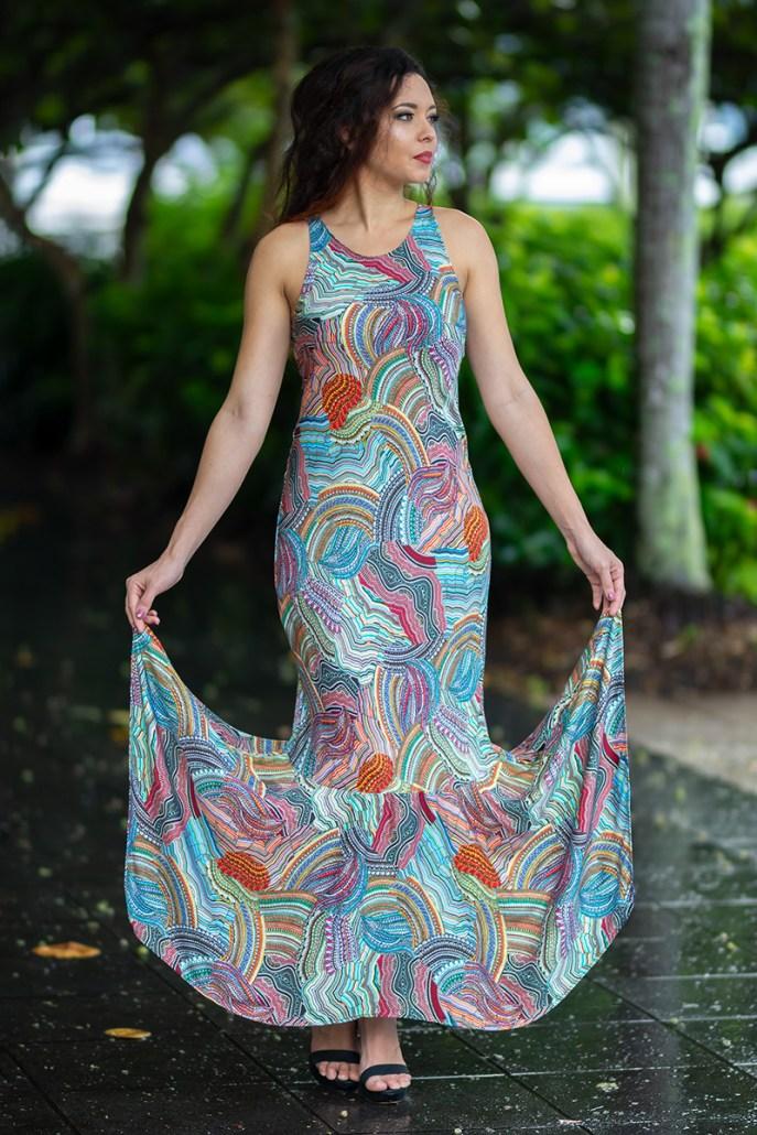 Phoenix Mermaid Dress in Messina