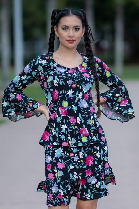 La Dolce Vita Top and La Dolce Vita Skirt in Millennium Chic