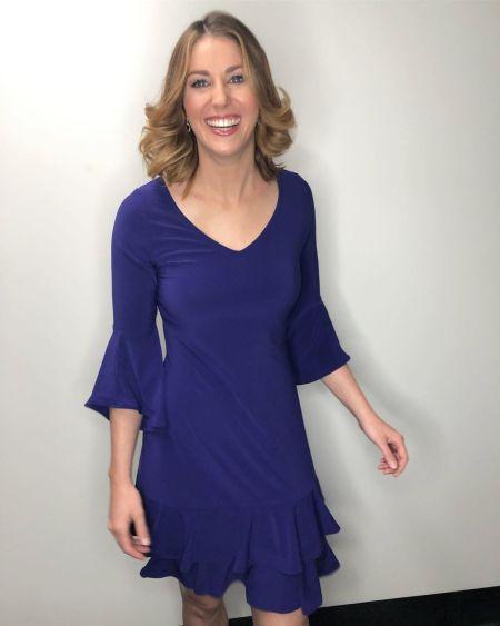 Nicole Rowles in the Ama La Vita Dress in Block Colours