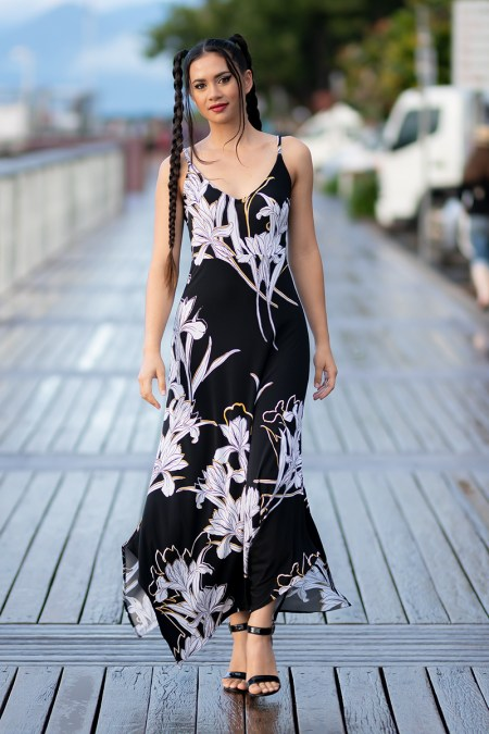Seychelles Fae Maxi in Winter Lily.