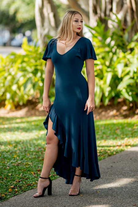 Return to Innocence Dress in Teal