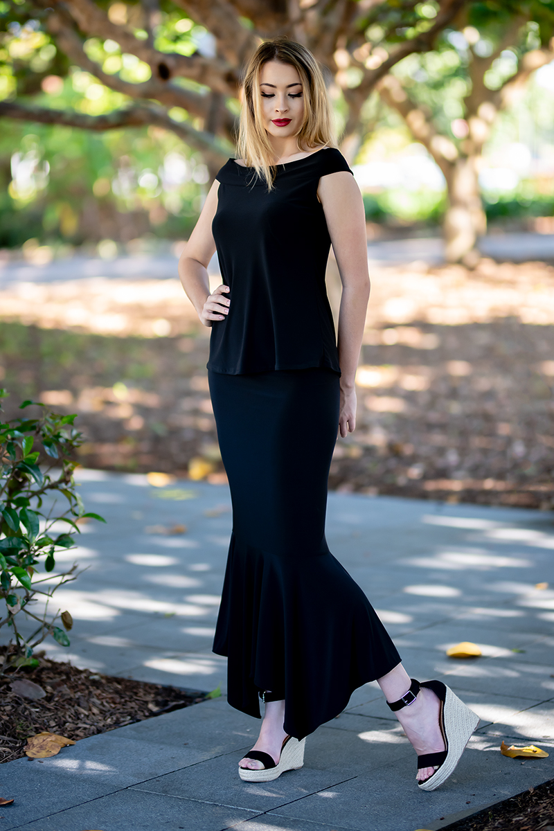 Ellipse Top and Australis Skirt n Block Colours.