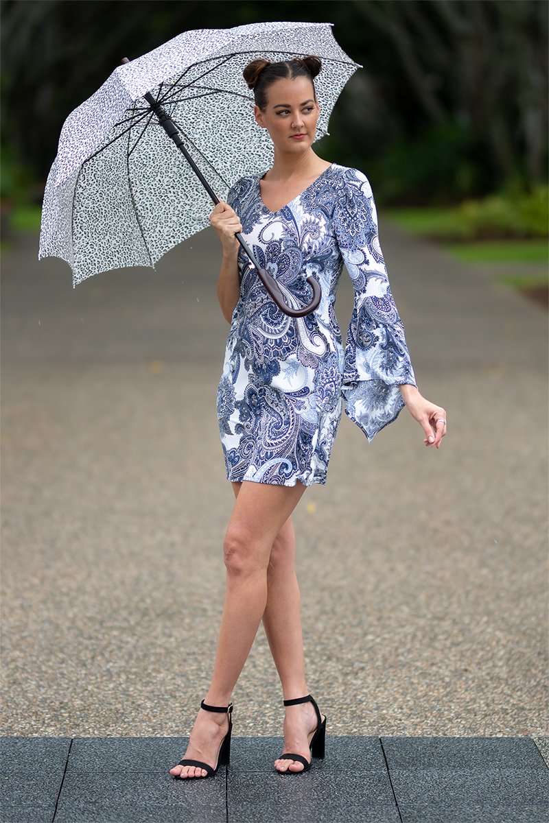 Lily Muse Dress in Silver Paisley