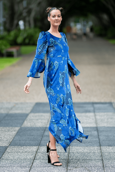Empress Muse Maxi in Deep Blue Sea Velvet Paisley