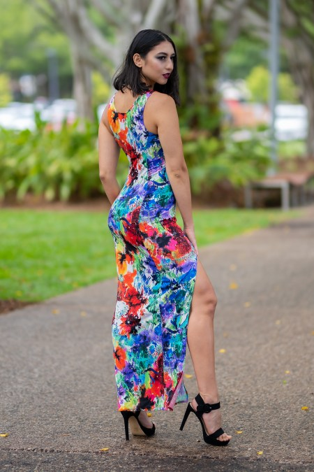 Long Illusion Dress in Paia