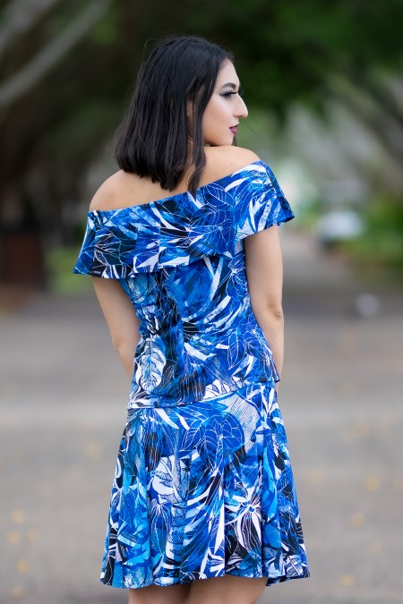 Rio Top and Skate Skirt in Blue Lagoon