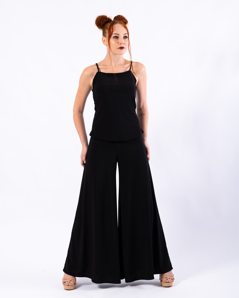Wild Heart Singlet and Palazzo Grande Pants in Black