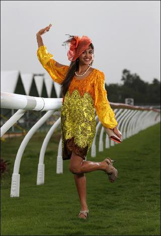 Racewear Dress by Cairns Fashion Designer Sajeela Jamie