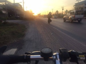 cycling across thailand