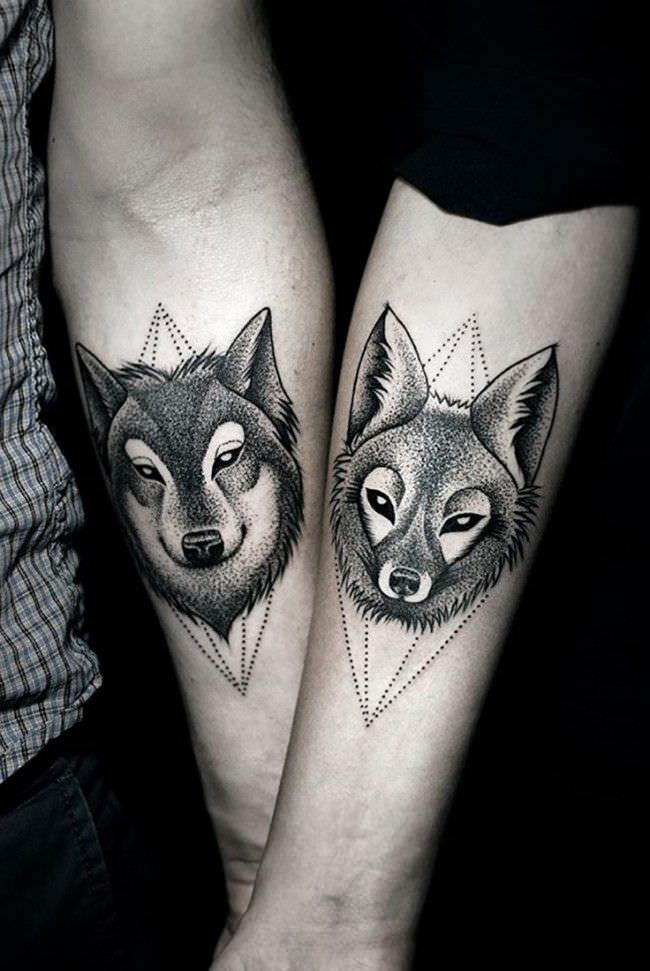 Small Relationship Matching Tattoos For Couples