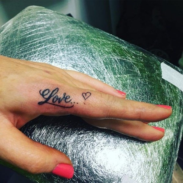 Side Hand Tattoos Words