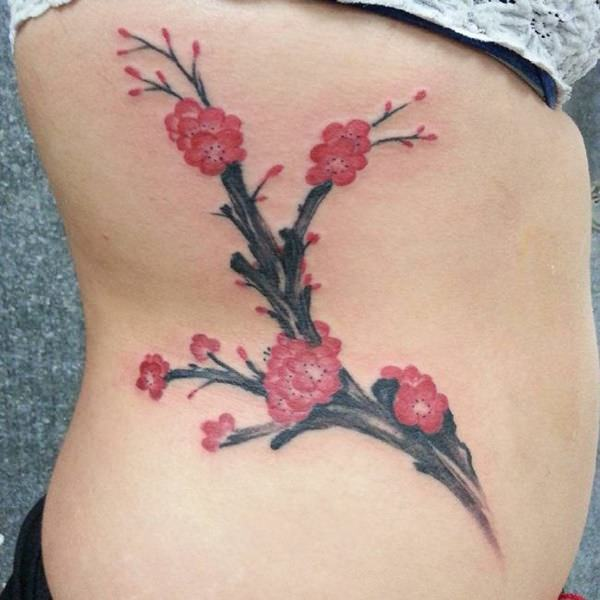 diagram the parts of cherry blossom tree porsche 924 ignition wiring 125 best tattoos 2019 wild tattoo art blossoms with intertwining branches