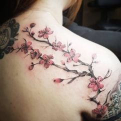 Diagram The Parts Of Cherry Blossom Tree Embraco Vcc3 Wiring 125 Best Tattoos 2019 Wild Tattoo Art Possesses Hardness And Strength A True Samurai Warrior But Blossoms Are Delicate Sweet Like Good Values Humane