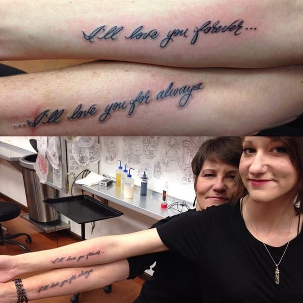 Mother Daughter Infinity Tattoos Ideas