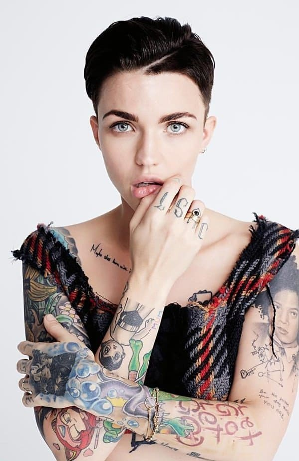 Ruby Rose All Tattoos