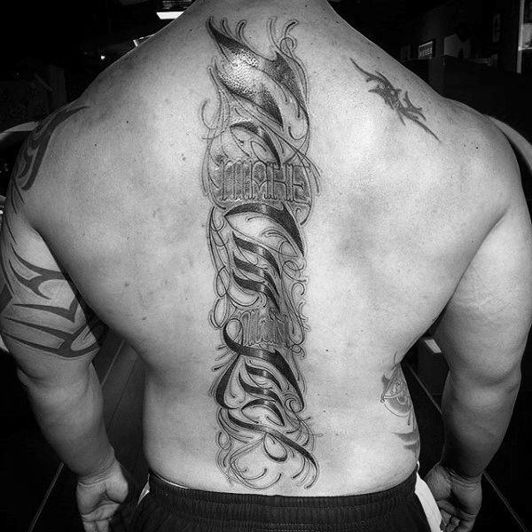 Simple Tattoo For Men Back
