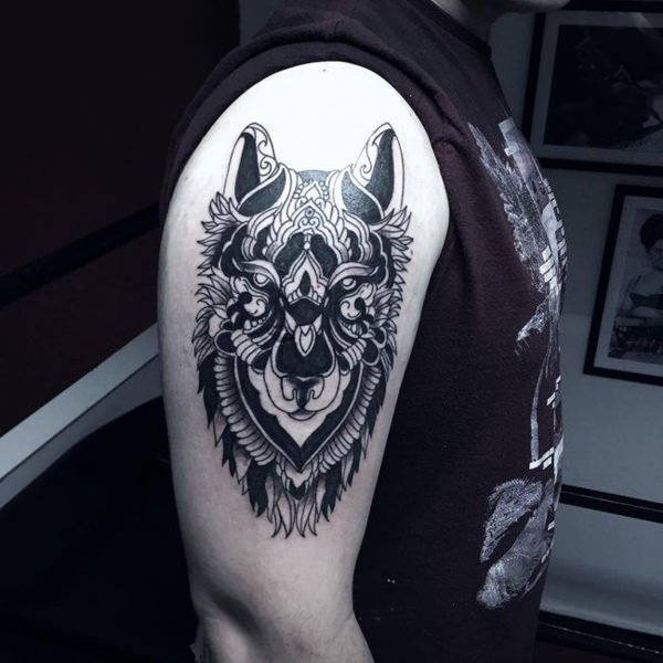 Wolf Tattoo Arms