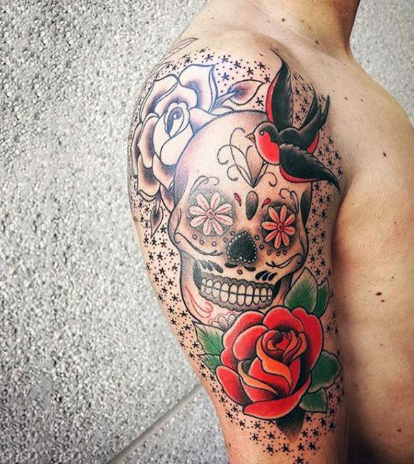 155 sugar skull tattoo