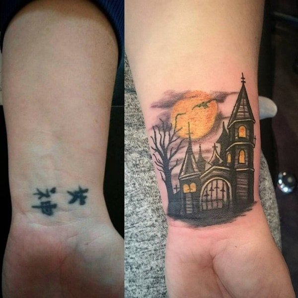 Cover Up Tattoo On Side Wrist