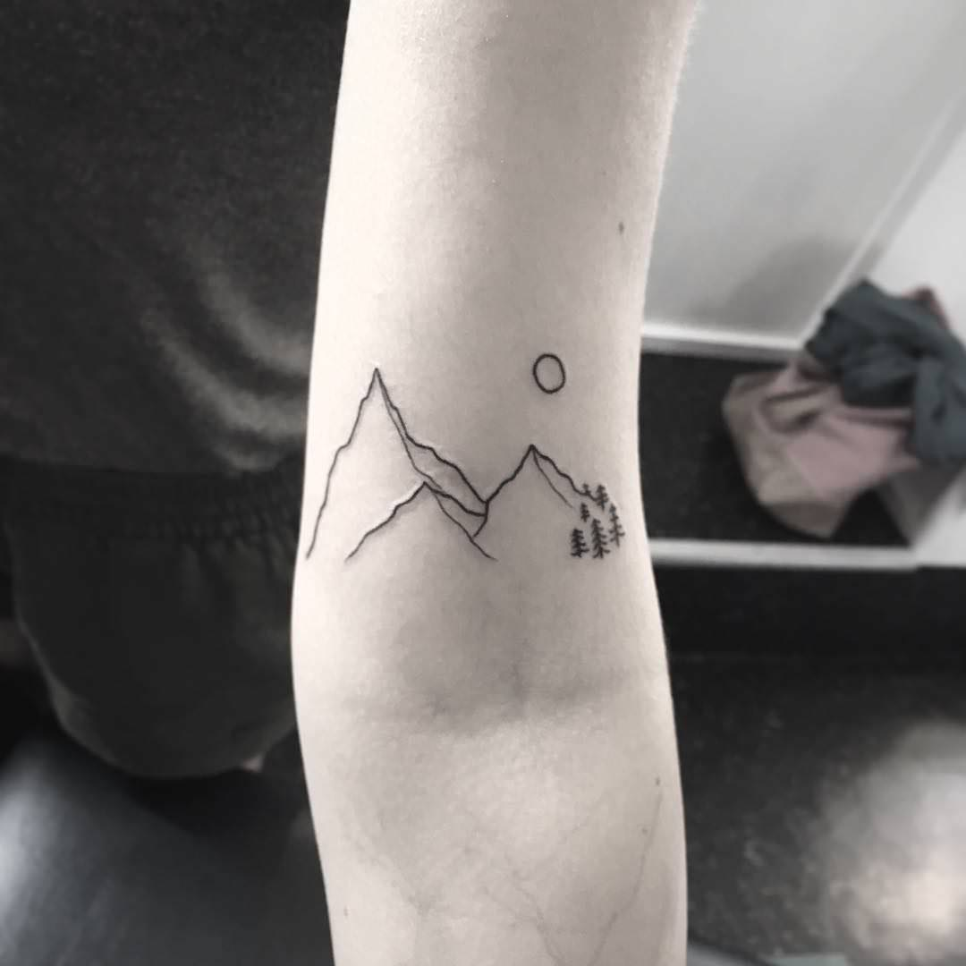 Minimalist Mountain Tattoo Designs