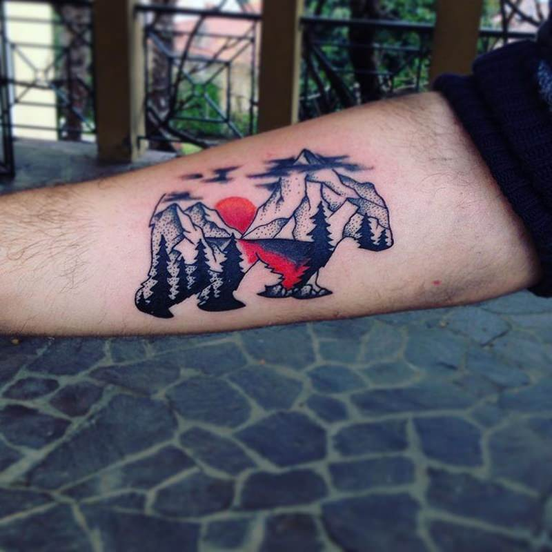 Bear Claw Tattoo On Hand