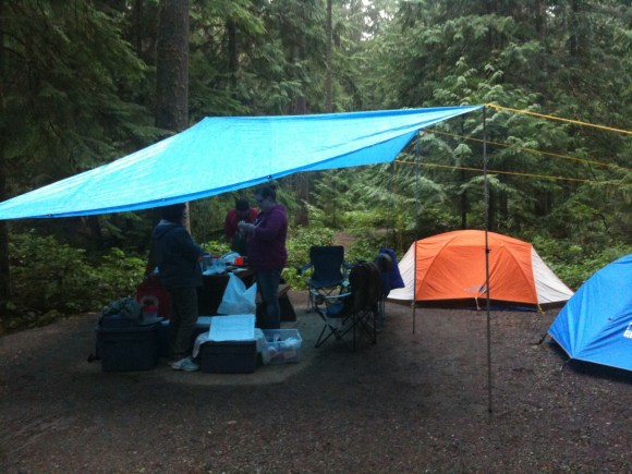 Wet Weather Camping with Kids