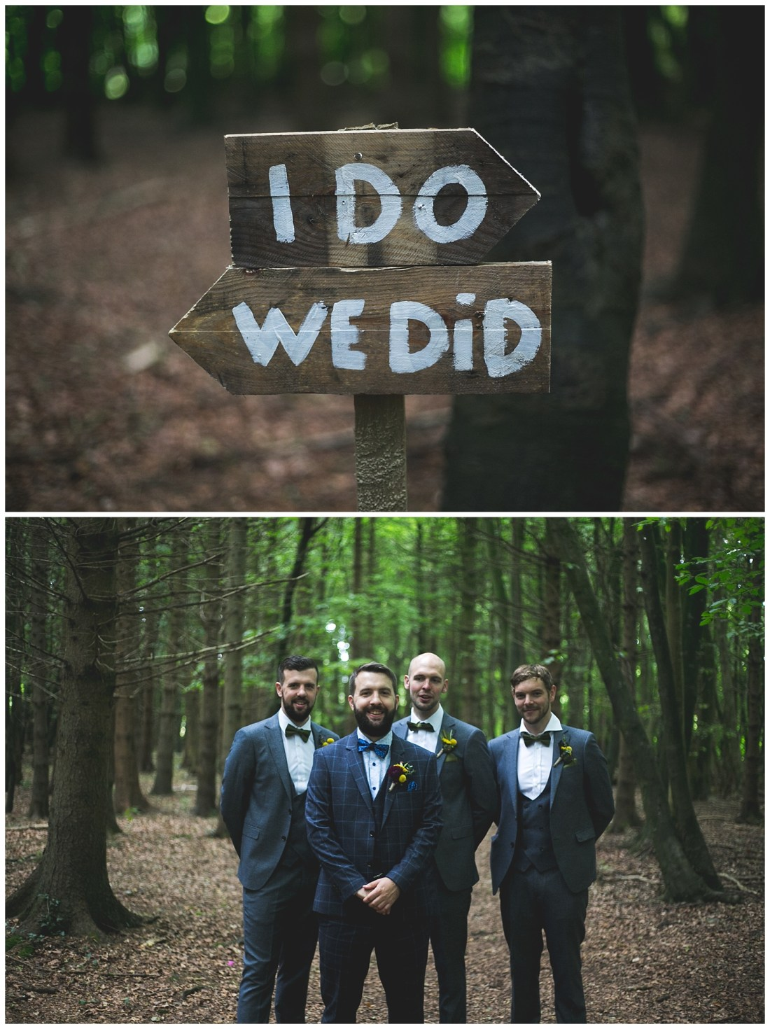 I DO WE DID wedding sign idea