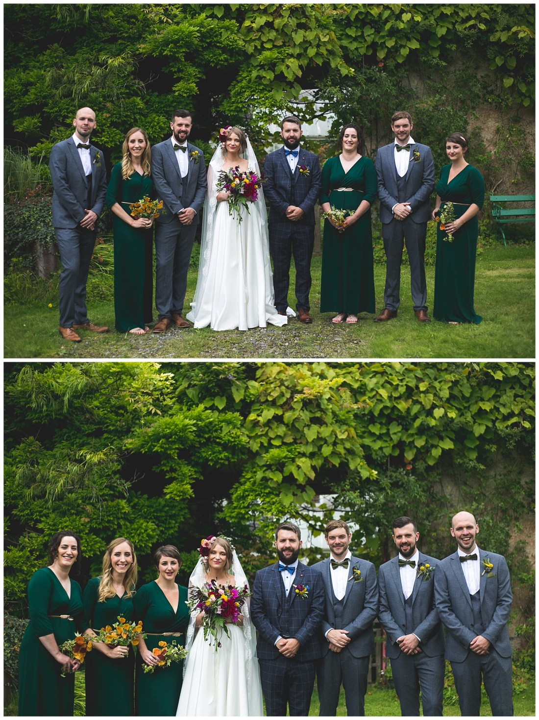 cool and alternative bridal party style