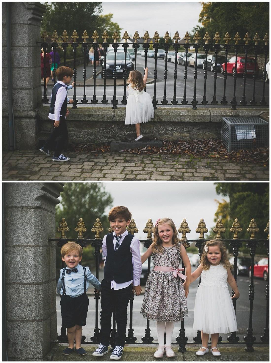 Cute shot of kids at a wedding