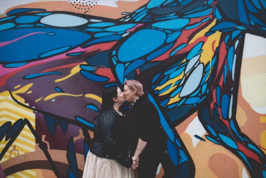 Dublin graffiti wedding