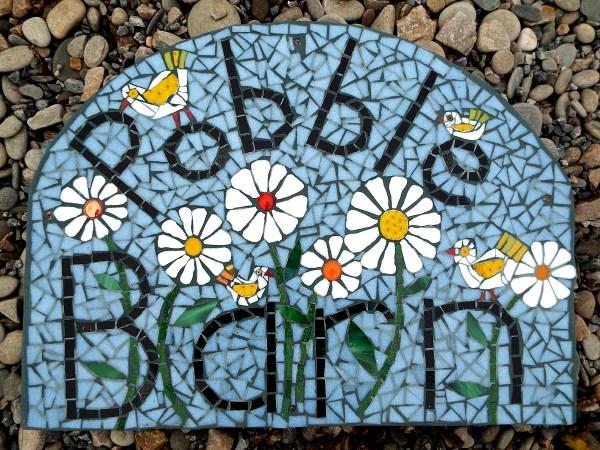 Mosaic Of Garden Sculptures Tables Plaques