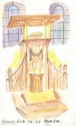 Sketched during an organ recital at Nieuwe Kerk, Haarlem