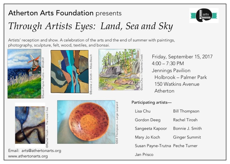 Atherton Arts Foundation Fall Reception featuring 11 local artists