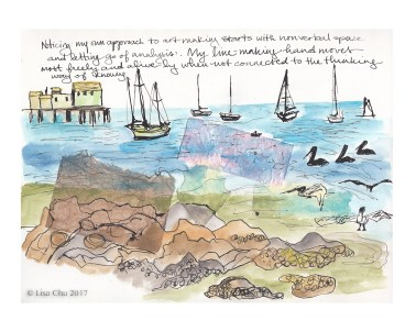 "Pillar Point observations - 8""x10"" giclee print"