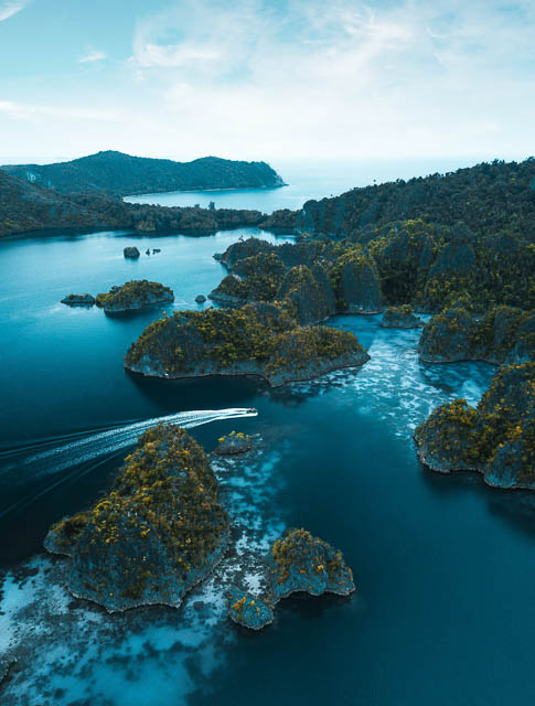 Raja Ampat from the sky