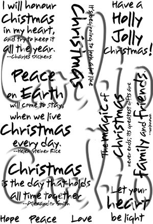 Cardio Christmas Wishes Clear Stamp Set