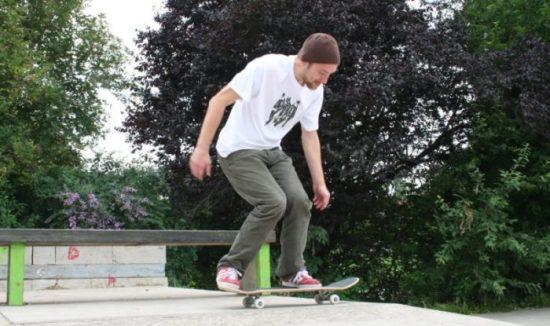 Skateboarder Christoph Reinhardt