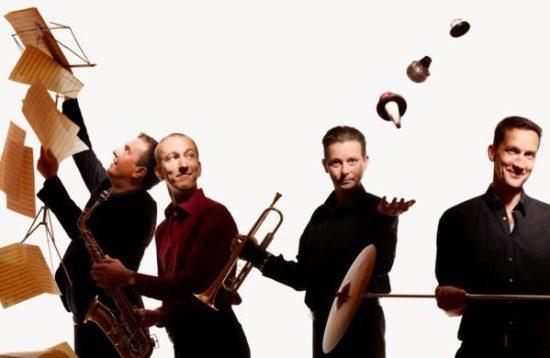 Echoes pf Swing ( Foto: Sascha Kletzsch, v.l. Lhotzky, Hopkins, Dawson, Mewes)