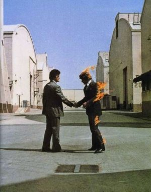 "Legendär: Das Albumcover von ""Wish You Were Here"", designed von Hipgnosis"