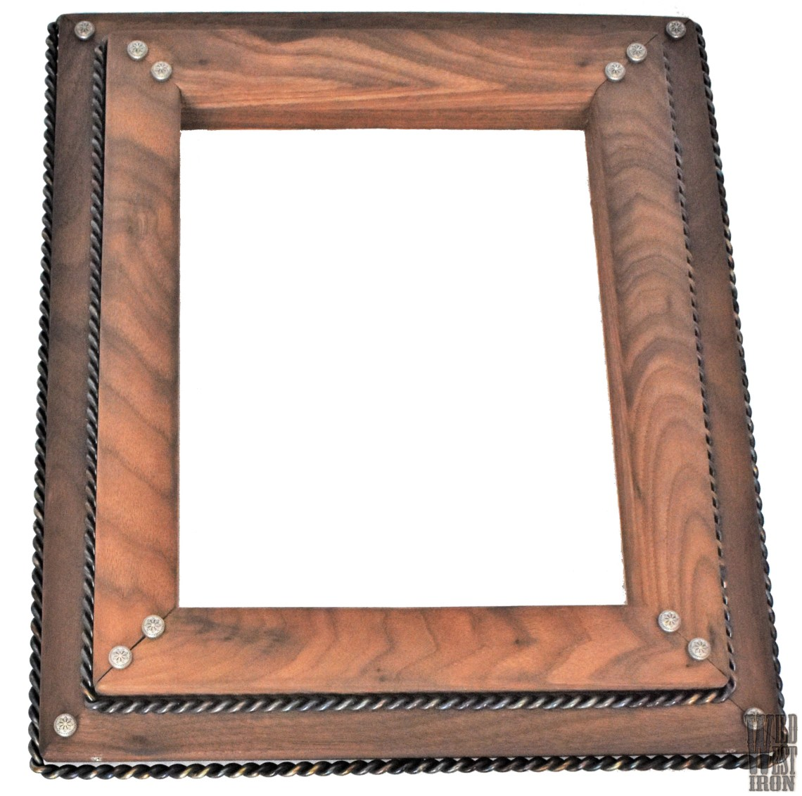 Walnut Picture Frame with Two Braids Front