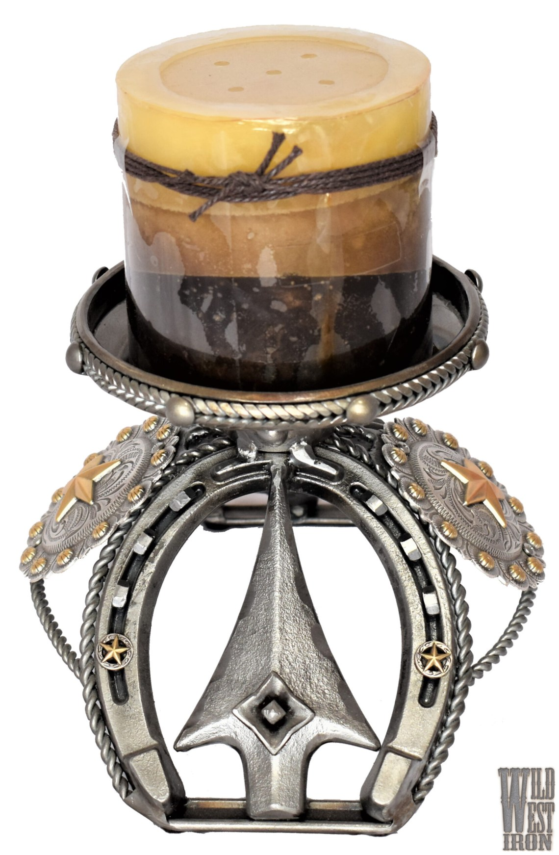 Gold Star Candle Holder View One
