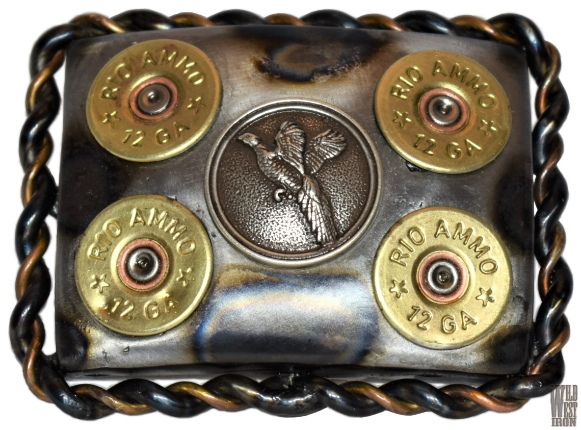 Pheasant Square Belt Buckle Variation Two